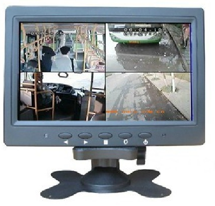 7inch LCD Car monitor with 4BNC input
